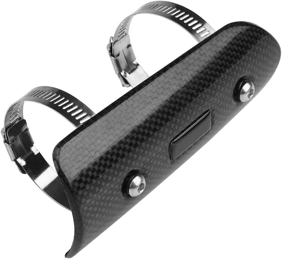 Auspuff Schalld/ämpfer Rohr Protector Hitzeschild Decor Guard ABS universal kohlefaser Motorrad Auspuffrohr Abdeckung