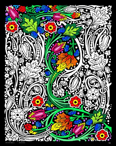 (Stuff2Color Floral Mania Fuzzy Velvet Poster - 16x20 Inches)