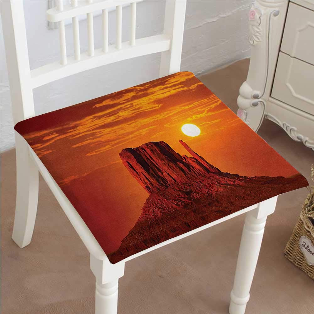 Mikihome Outdoor Chair Cushion of Canyon and with Hazy Dramatic Lights West Sand Stone Orange Comfortable, Indoor, Dining Living Room, Kitchen, Office, Den, Washable 16''x16''x2pcs
