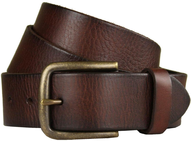 Belts.com JT Vintage Genuine Full-Grain Casual Jean Leather Belt 1 1/2