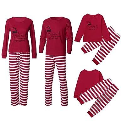 6ae961ab23 FeiliandaJJ Family Christmas Matching Pyjamas