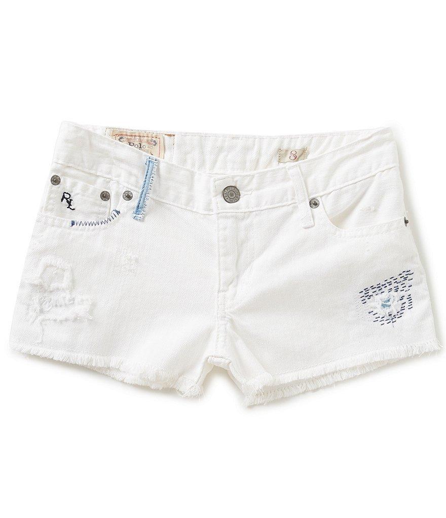 Ralph Lauren Girls/' Denim Cutoff Shorts