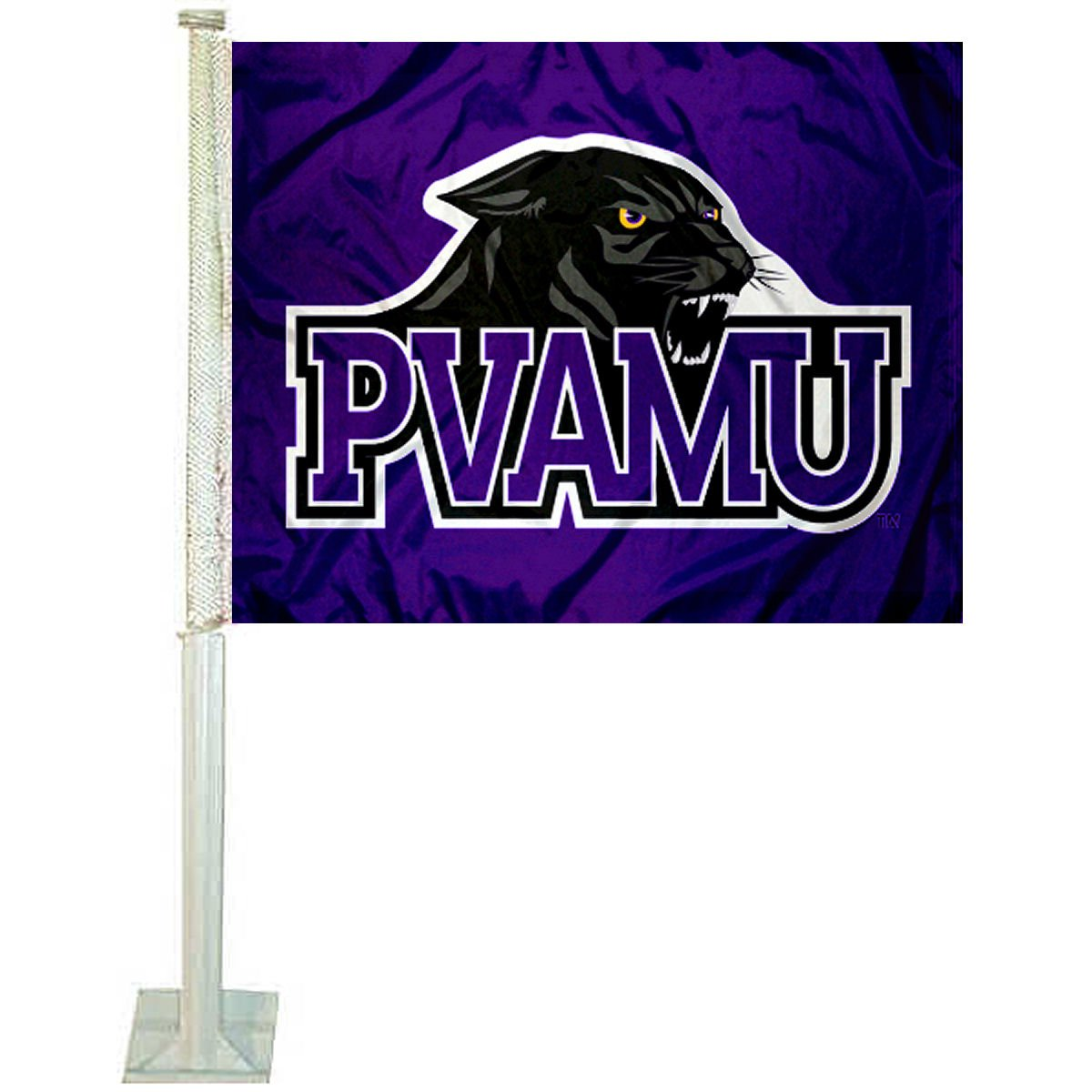 College Flags and Banners Co. Prairie View A& M Panthers Car Flag