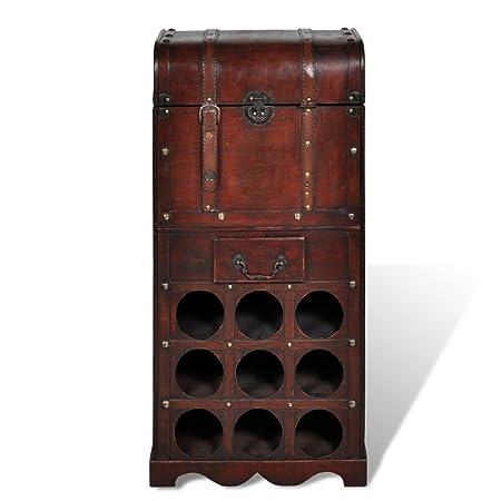 Anself Wooden Wine Rack Red Wine Storage  sc 1 st  Amazon UK & Anself Wooden Wine Rack Red Wine Storage: Amazon.co.uk: Kitchen u0026 Home