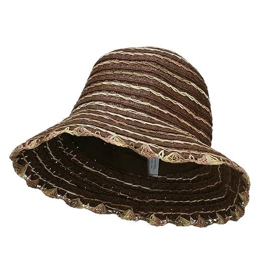 809c2887d65 Loop Toyo Braid Bucket Hat - Brown OSFM at Amazon Women s Clothing ...