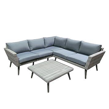 Amazon.de: OUTLIV. Loungemöbel Outdoor Usedom 3-tlg Gartenlounge Alu ...