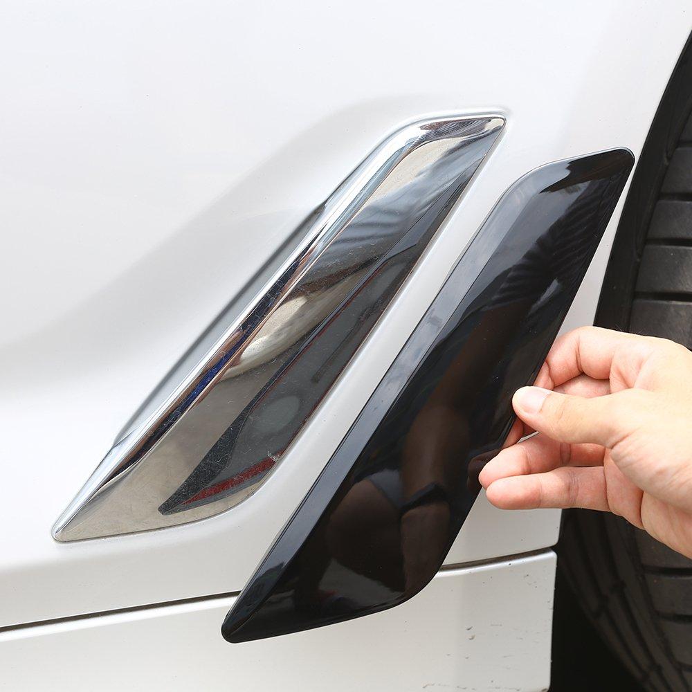 2/pcs pour nouvel 5/Series G30/2017/2018/de voiture Plastique ABS Noir brillant Fender /Évents Garniture d/écorative Coque Stickers Accessoires