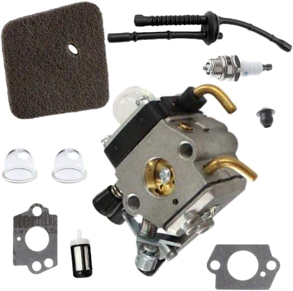 jiheousty Carburador para Stihl HS45 FS55 FS310 Cortasetos Zama C1Q-S169B 4140120 0619