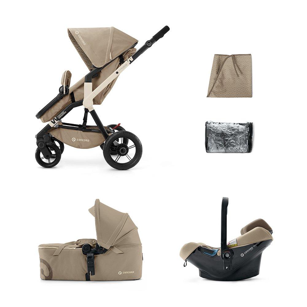 Concord - Coche de paseo trío wanderer mobility set beige: Amazon.es: Bebé