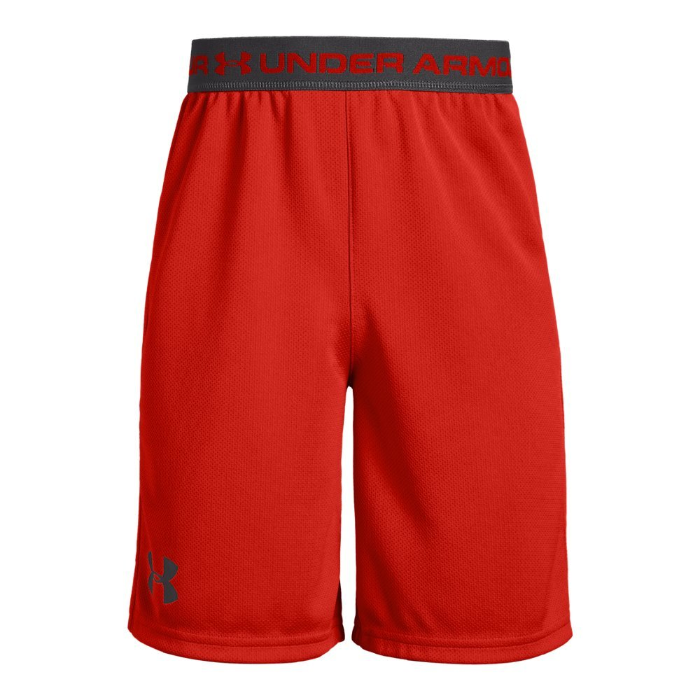 Under Armour Boys' Tech Prototype 2.0 Shorts, Radio Red (890)/Charcoal, Youth X-Small