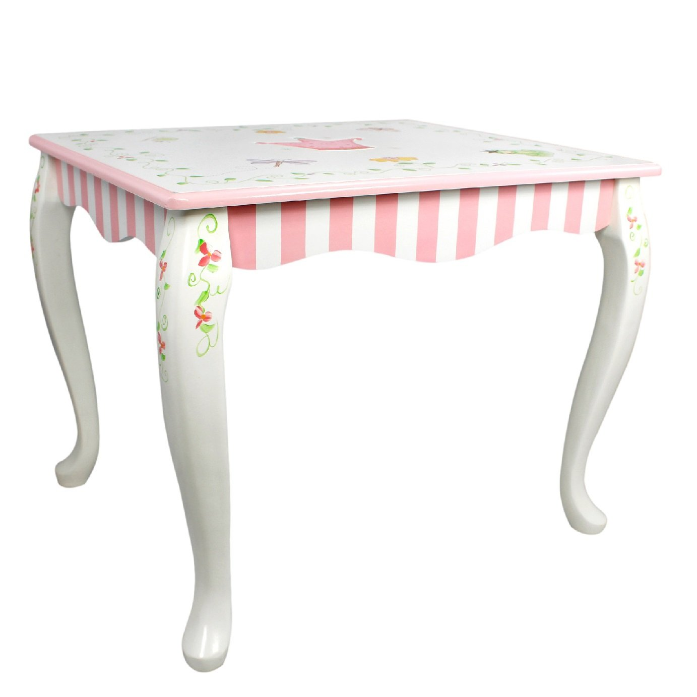 Fantasy Fields - Princess & Frog themed Hand Crafted Kids Wooden Table (Chair Sold Seperately)|   Hand Crafted & Hand Painted Details | Child Friendly Water-based Paint Fantasy Fields By Teamson W-7395A
