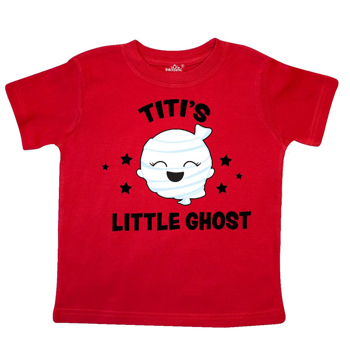 inktastic Cute Titis Little Ghost with Stars Toddler T-Shirt