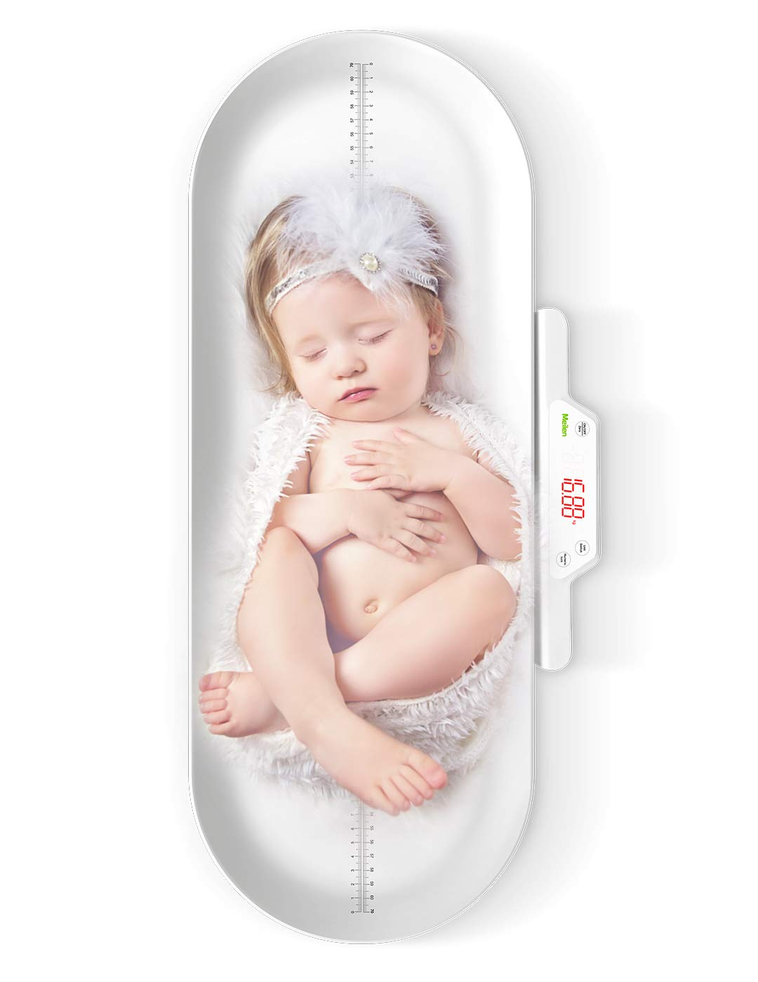 Baby Scale,Pet Scale,Infant Scale Digital,with Height Tray(Max: 27.5in/70cm) Measure Weight Accurately(Max: 220lb), Perfect for Toddler/Puppy/Cat/Dog/Adult by Meilen life