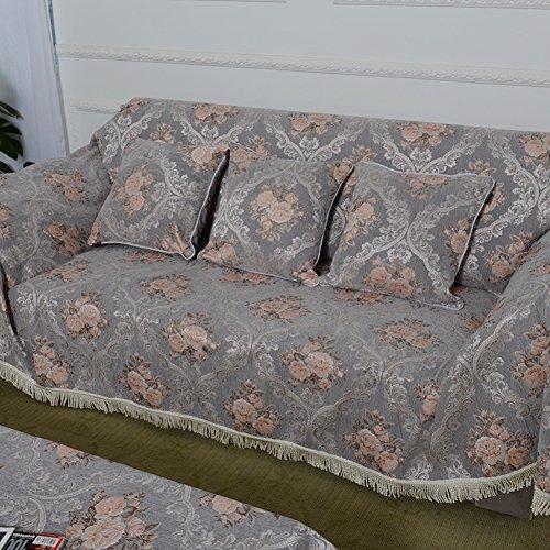 European style sofa cover sofa full cover sofa towel Non slip composite fabric sofa A 180x360cm(71x142inch) by Sofa towel