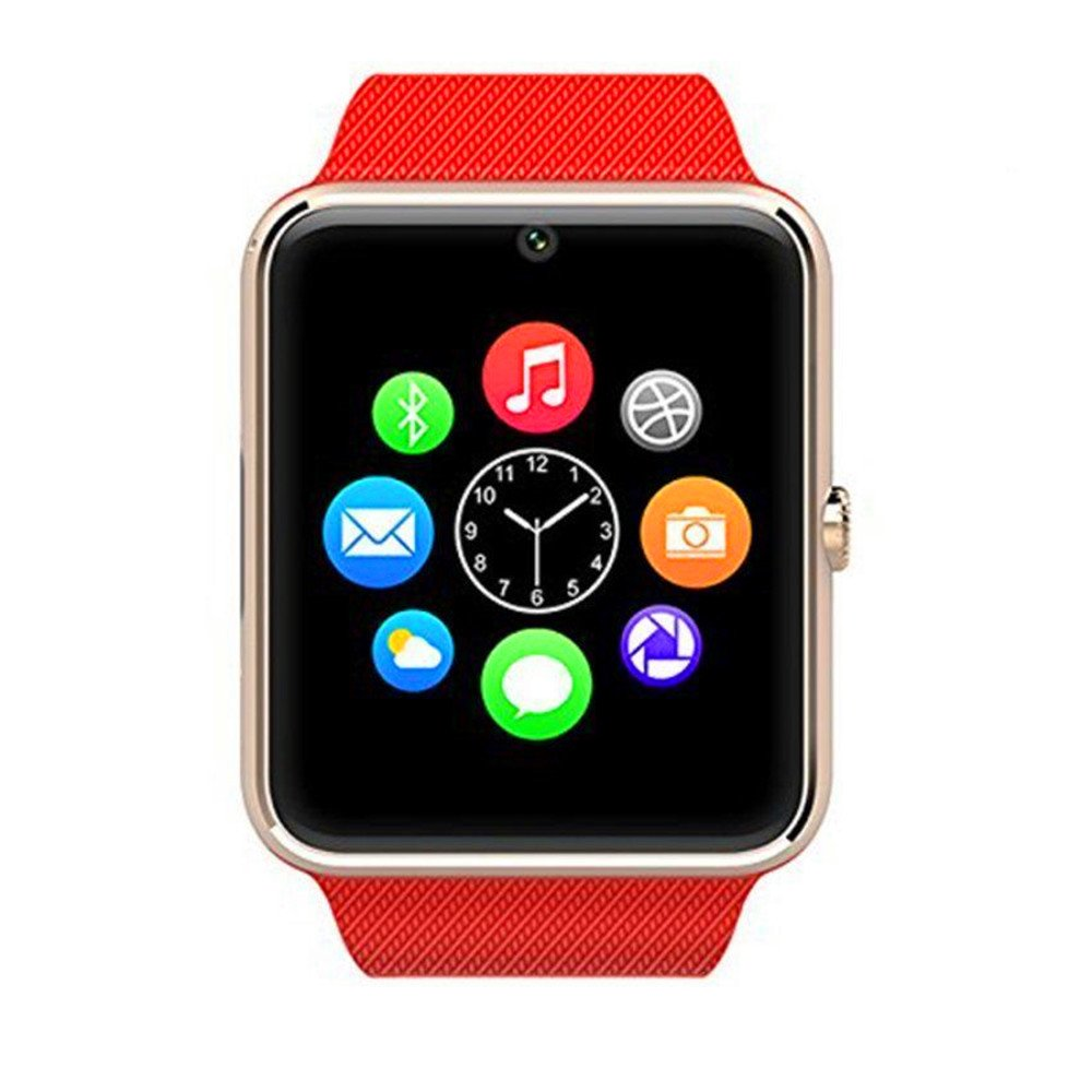 Reloj inteligente Zomtop usable Bluetooth GT08 inteligente Salud Teléfono reloj de pulsera con ranura para tarjeta SIM para Android Samsung HTC LG ...