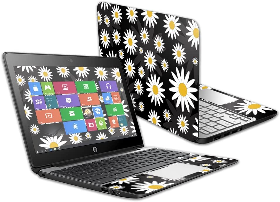 """Mightyskins Skin Compatible with Hp Chromebook 11 G5 11.6"""" - Daisies 