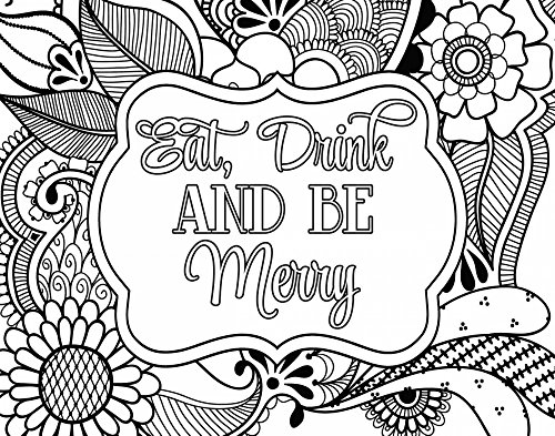 Eat, Drink and Be Merry - Fine Art Print on Canvas Wall Art Decor for Home Living Room,Bedroom,Bathroom 28 x 22 Inch Wall Art Painting Canvas Print ONLY -NO Frame (Eat Drink Be Merry Wall Canvas)