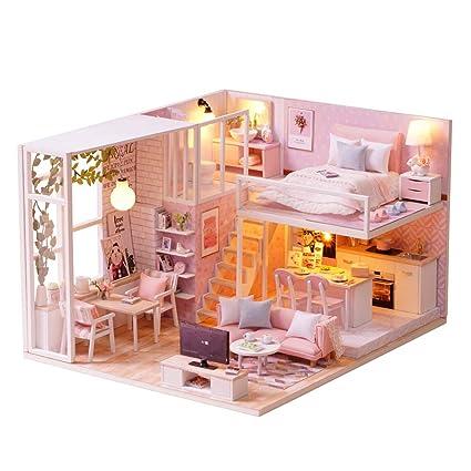 Pink Folded Napkins Dollhouse Miniature Lot of 2