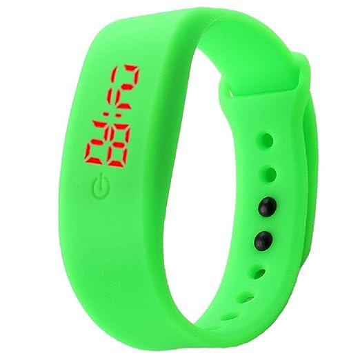 Tyler - Hancock Rubber LED Watch Unisex Sports FECHA pulsera reloj Digital verde: Guo Qin: Amazon.es: Relojes