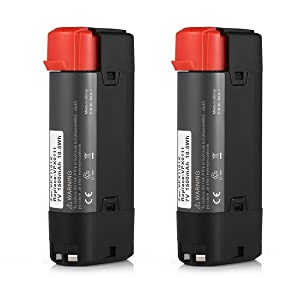 Powerextra 2 Pack 7V 1500mAh Li-ion Black & Decker VPX0111 Replacement Battery Compatible with VPX1101 VPX1101X VPX1201 VPX1212 VPX1212X VPX1301 VPX1301X VPX1401 VPX1501 VPX2102
