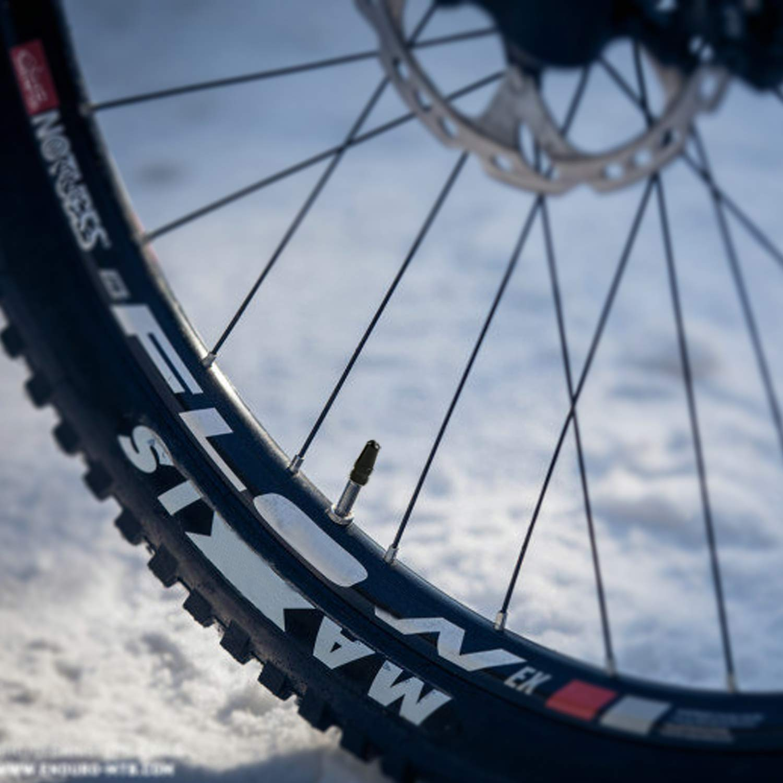 Godeson Tap/ón de v/álvula de neum/ático resistente para bici de carretera o de carreras color plata antipolvo