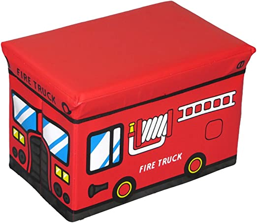 Caja para guardar juguetes, ounona caja de almacenaje con tapa para niños (tren rojo): Amazon.es: Hogar