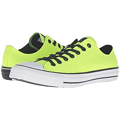Converse Unisex Chuck Taylor All Star Seasonal Ox Round Toe Canvas Sneakers (11 D(M) US / 13 B(M) Women, Volt/White/Black)