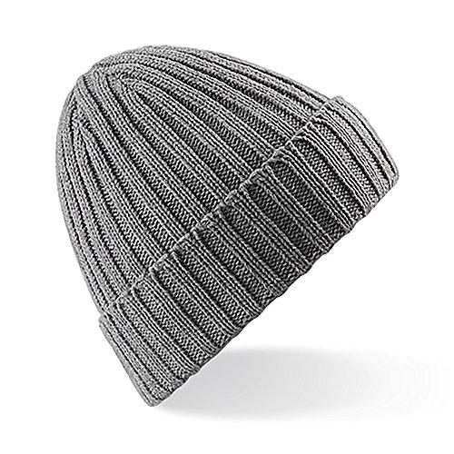 modelo acanalado Ribbed de Chunky Beechfield Gorro invierno unisex Jaspeado beanie qX0gXwAI