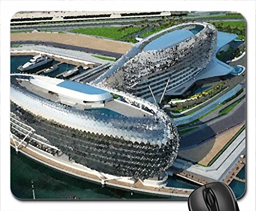 Yas Marina Mouse Pad, Mousepad (Modern Mouse Pad, 10.2 x 8.3 x 0.12 inches)