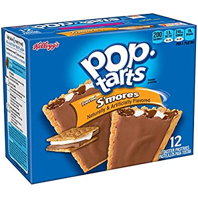 Pop-Tarts Toaster Pastries, S'mores, 22oz 12-Count Box (Pack of 12)