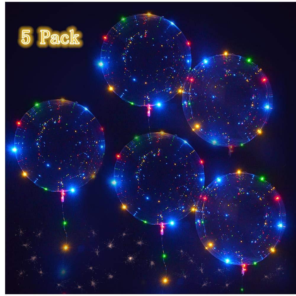 Slopow LED Bobo Globos Transparente 5 Piezas con LED Globos...