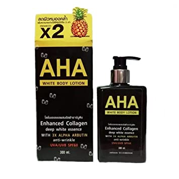 AHA Whitening Body Lotion Enhanced Collagen deep white essence WITE 3X ALPHA ARBUTIN anti-wrinkle