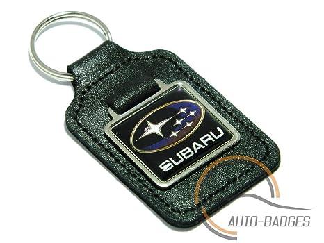 Auto-badges - Llavero de piel con logotipo de Subaru: Amazon ...