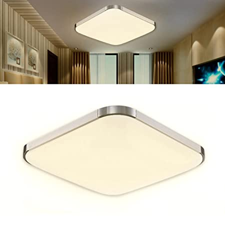 Littleduckling 24w led ceiling light 39x39cm ultra thin modern littleduckling 24w led ceiling light 39x39cm ultra thin modern silver warm white super bright square aloadofball Image collections
