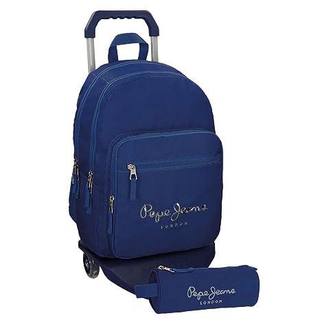 Pepe Jeans 66824M3 Harlow Mochilas Escolares, 42 cm, 19.44 litros, Azul