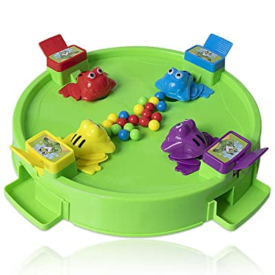 HomeMall Hungry Frogs Family Board Game, 4 Player Frog Toy Eat Beans Desktop Games for Kids 3 Years and Older: Toys & Games