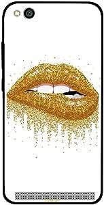 Redmi 5A Case Cover Golden Glitter Lips, Moreau Laurent Premium Phone Covers & Cases Design