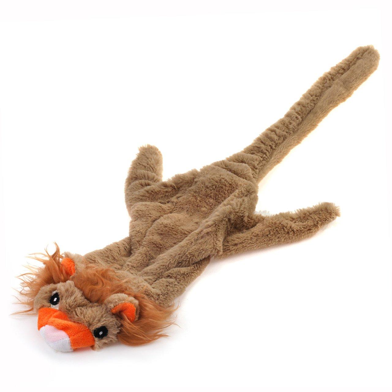 Chiwava 52, 1cm en peluche pour chien Squeak non sans rembourrage Lion avec 2couineur Stuffingless jouet pour chien Wonpet Co. Ltd DTP024