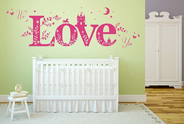 We love you quote vinyl wall art sticker mural decal home