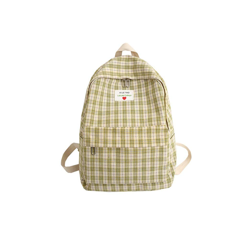 Yellow 29x12x39cm QRFDIAN Schoolbag, college girl, backpack, girl backpack Fabric (color   bluee, Size   29x12x39cm)
