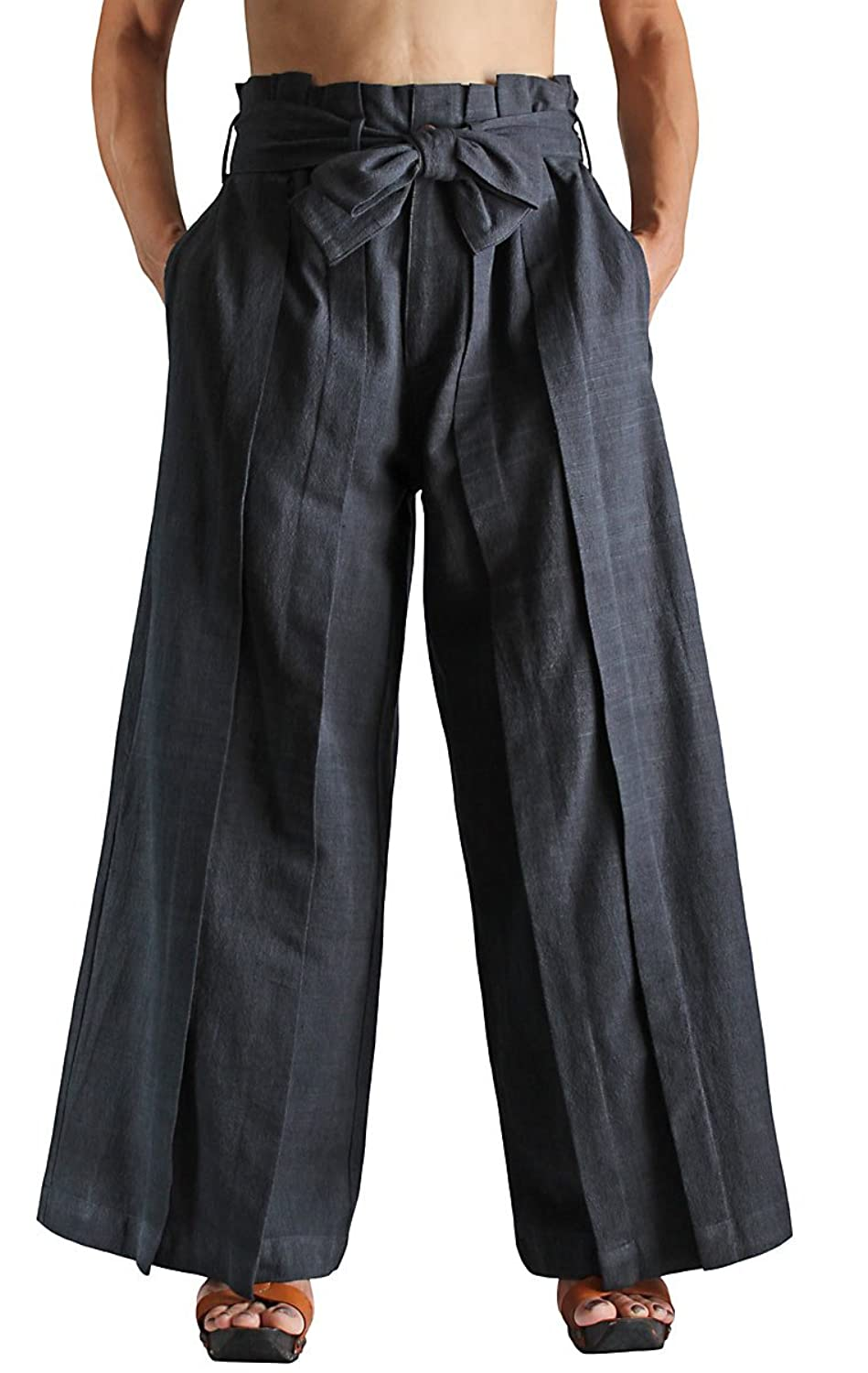 Sawan Mens ChomThong Hand Woven Cotton Hakama Style Pants At Amazon Clothing Store