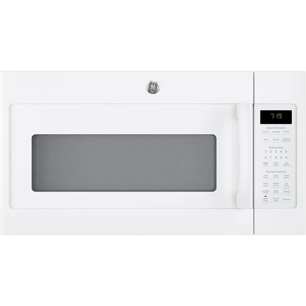 GE JVM7195DKWW 1.9 Cu. Ft. White Over-the-Range Microwave