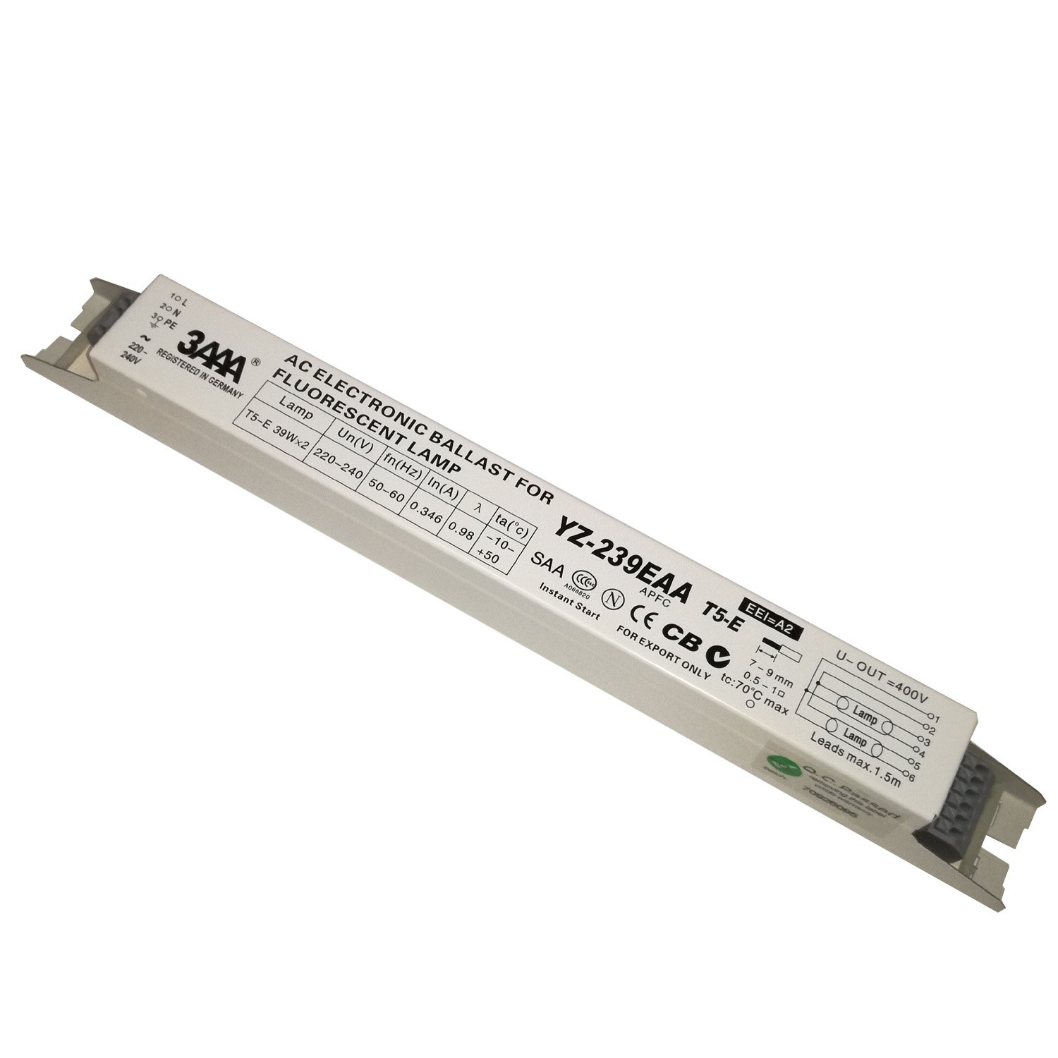 3aaa Yz 239eaa T5 E 220 240v 2x39w Fluorescent Lamp Ac Electronic Ballasts For L S In Addition 4 Ballast Wiring On Instant Start Business Industry Science