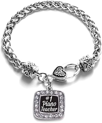 Clearly Charming Mother with Half Heart Italian Charm Bracelet Link