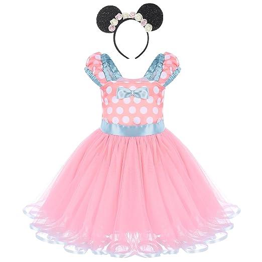 c56300aeacbe Amazon.com  FYMNSI Baby Girls Toddlers Polka Dots Minnie Tutu Dress ...