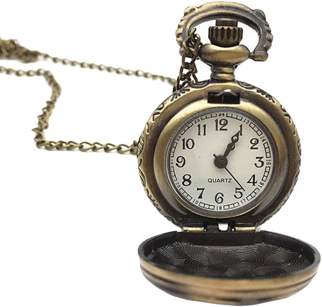 Hasiky - Reloj de Bolsillo Vintage con Cadena, Regalo para ...
