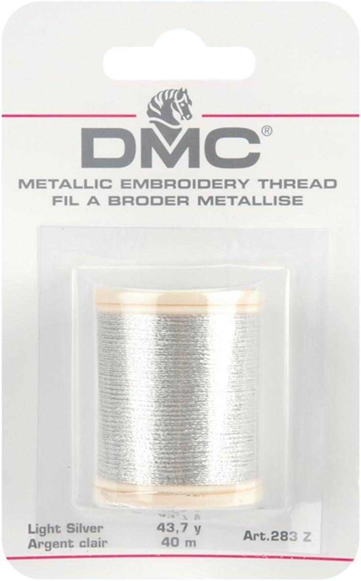Light Silver DMC Diamant Metallic Needlework Thread 38.2-Yard