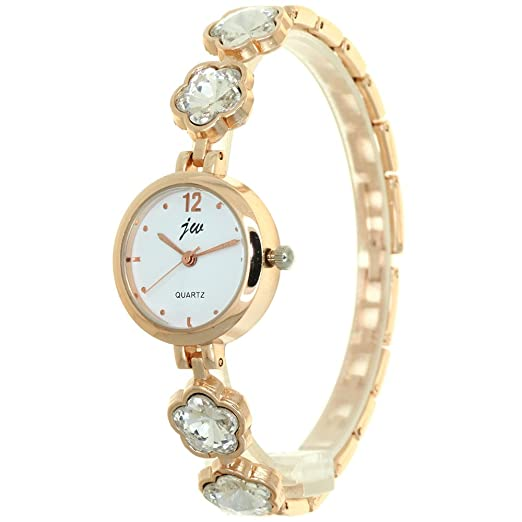 599384fde Plum Blossom Crystal Mounted Bracelet Band Jewellery Womens Watch Stainless  Steel Strap Rhinestone Diamond Band Watches