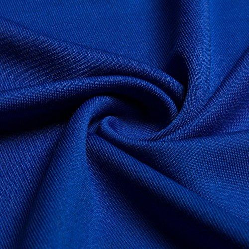 de Ceremonios Corta Puro Largos V Coctel Color Azul Rojo Manga Beauty7 Noches Fiestas Flexible Azul Grande Formal Honor de Vestidos Cuello Vestidos Boda Mujeres Dama Negro qvw00A