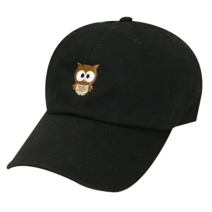 fecfe8dbd9a07 City Hunter C104 Cute Owl Cotton Baseball Cap 14 Colors (Black) at ...